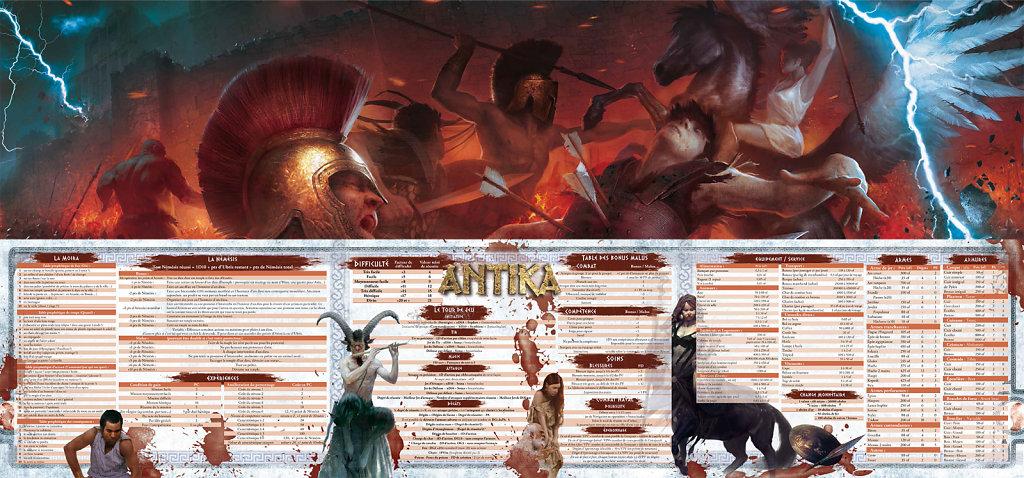 Mise en page de l'écran d'Antika