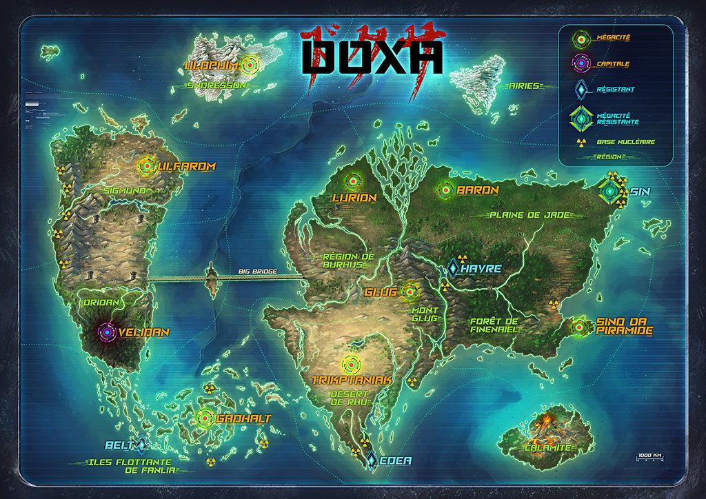 Carte du monde - Doxa