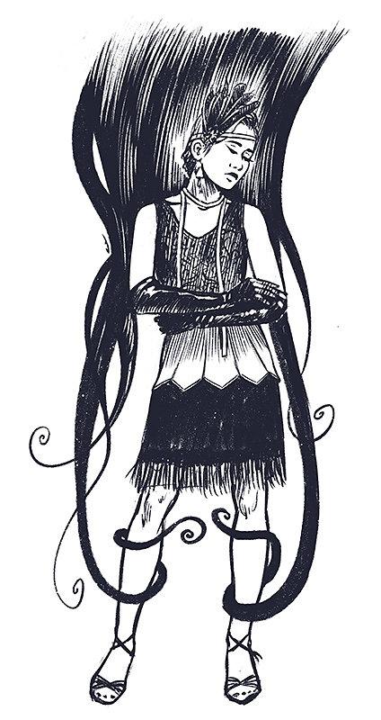 Lady tentacules